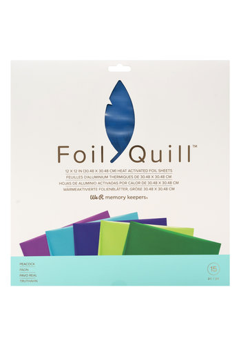 Foil Quill Sheets 12 x 12 - PEACOCK