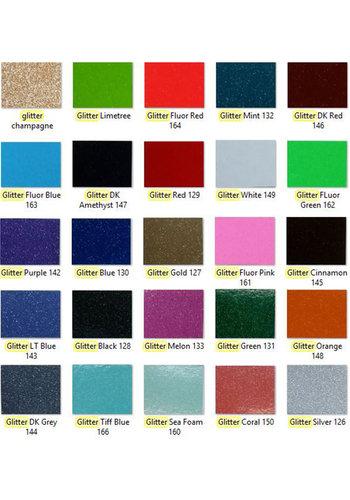 """Glittervinyl  -  12"""" x 12""""  -  Verschillende kleuren"""