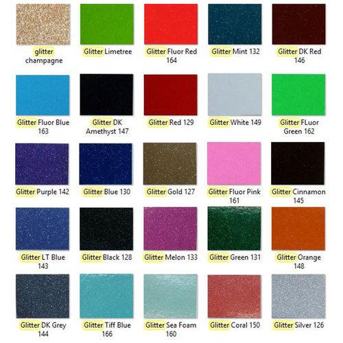 """Vinyl Glitter  -  12"""" x 12""""  -  Verschillende kleuren"""