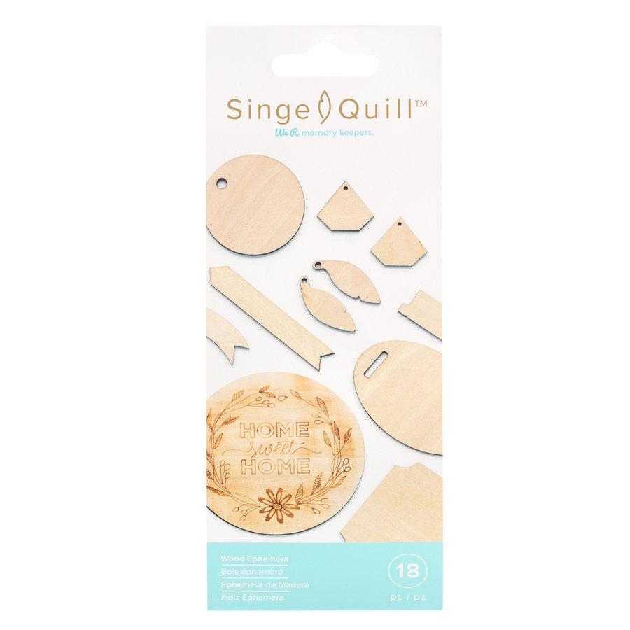 Éphémères en placage de bois Singe Quill-1