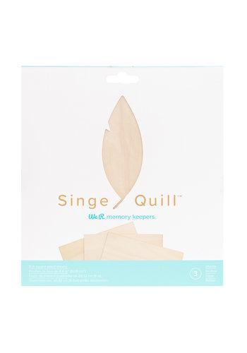 Feuilles de bois Singe Quill (3hp)