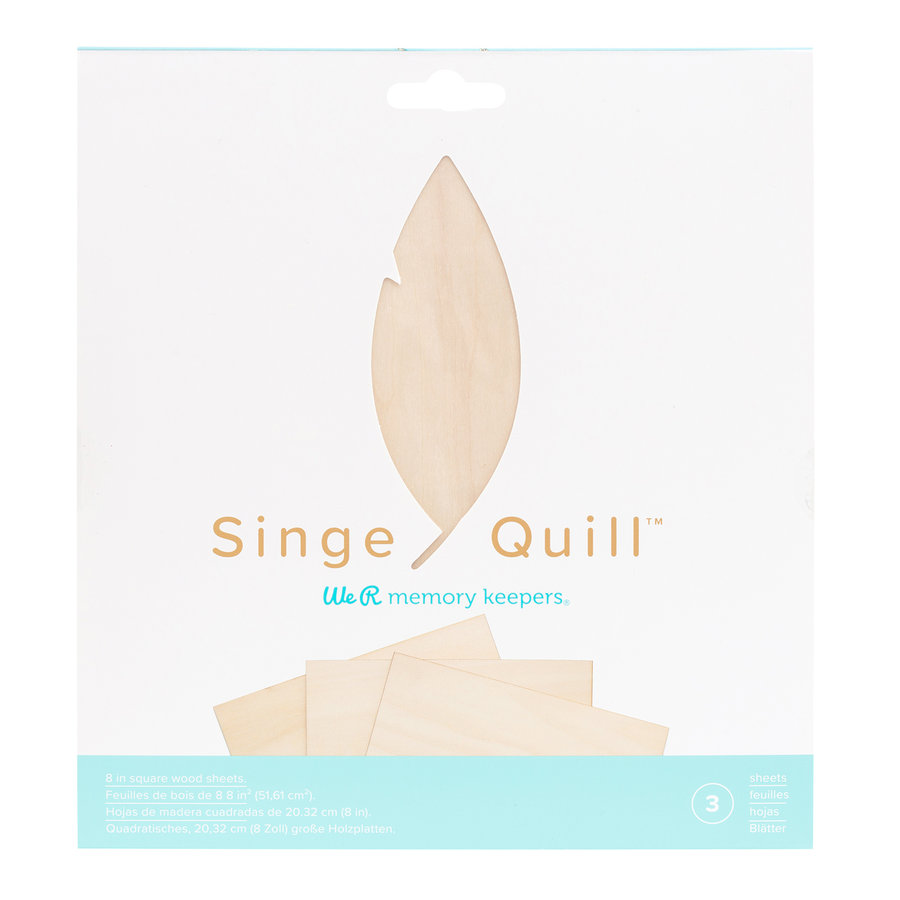 Singe Quill  Wood Sheets (3pk)-1