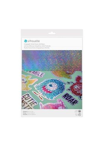 Aufkleber Papier - Holographic Punkte