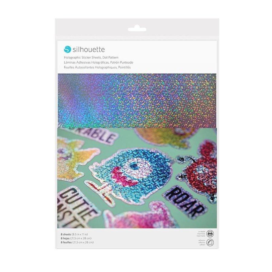 Sticker Papier - Holographische Punkte-1