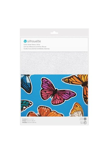Sticker Paper - Glitter White