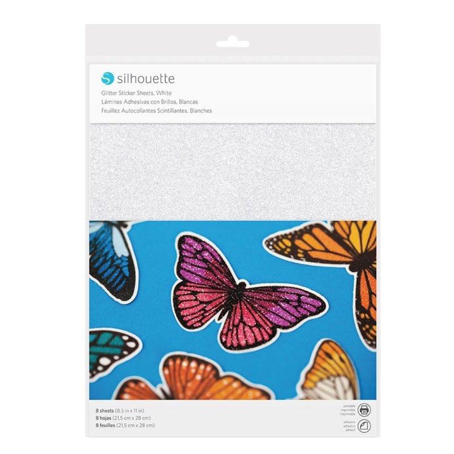 Sticker Paper - Glitter White-1