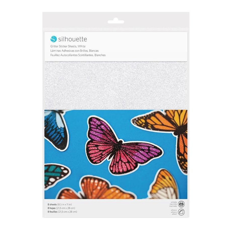 Sticker Papier - Glitter White-1