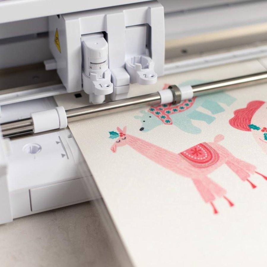 Sticker Paper - Glitter White-3