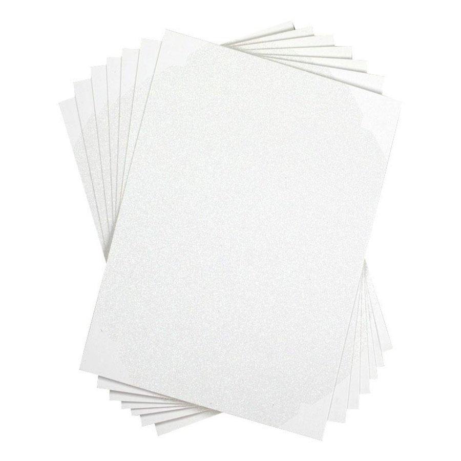 Papier autocollant - Blanc scintillant-2