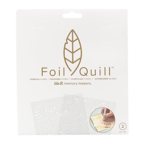 Foil Quill Freestyle-Schablonen: Floral