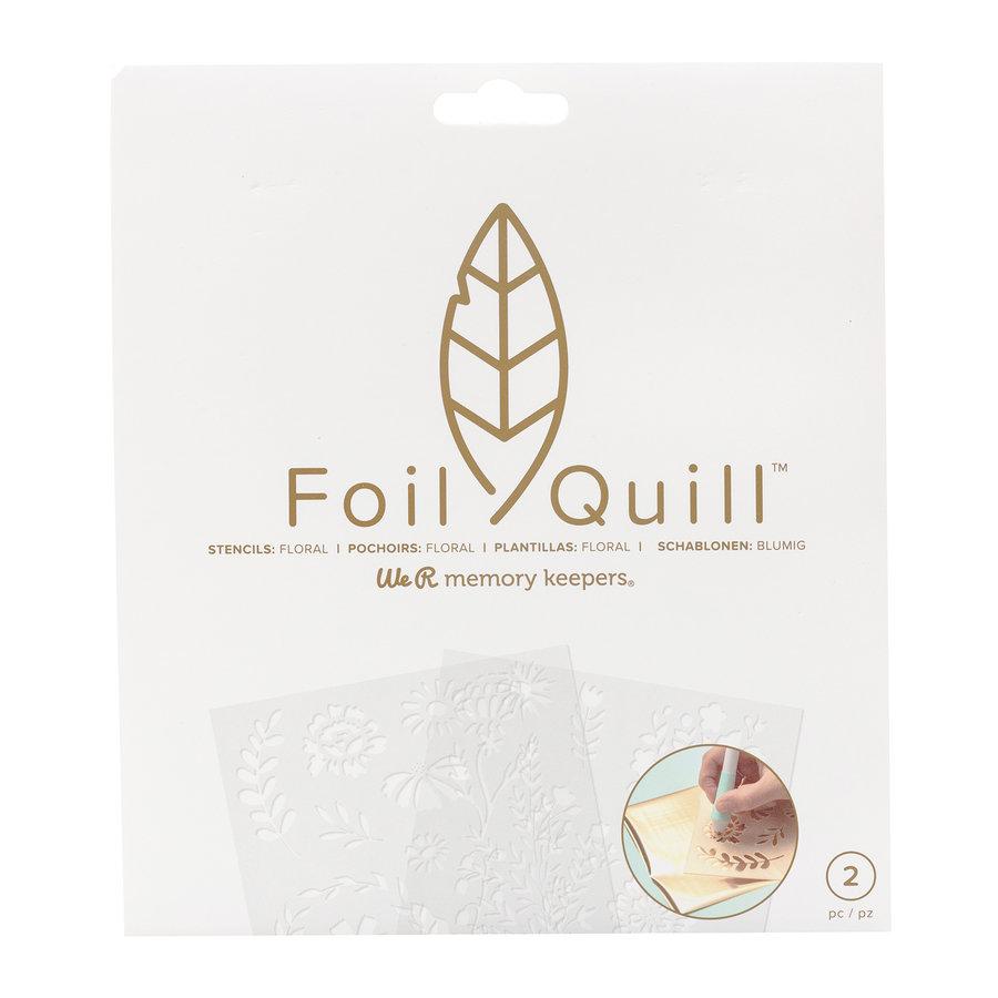 Foil Quill Freestyle-Schablonen: Floral-1