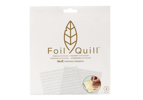 Foil Quill Freestyle- Stencils:  Monogram