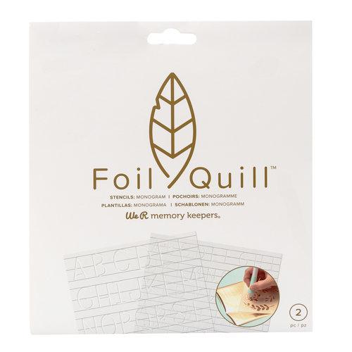 Foil Quill Freestyle-Schablonen: Monogramm