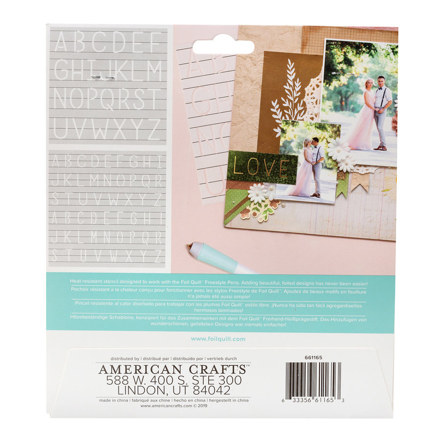 Foil Quill Freestyle - Pochoirs: Monogram-2