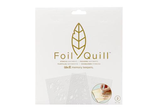 Foil Quill Freestyle-Schablonen: Gefühle