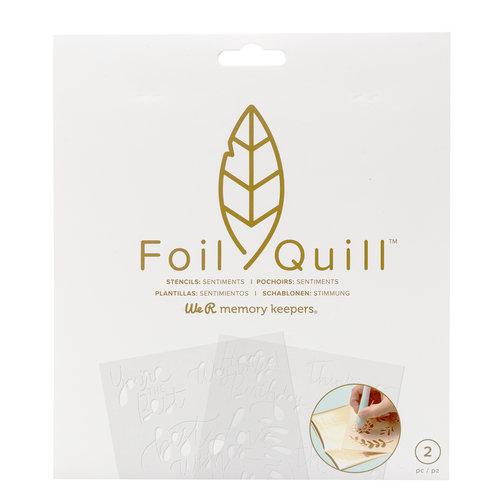 Foil Quill Freestyle- Stencils:  Sentiments