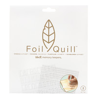 thumb-Foil Quill Freestyle - Pochoirs: Basique-1