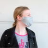 Mouth mask gray (incl. Two filters)
