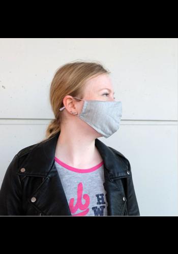Masque de bouche gris (incl. Deux filtres)
