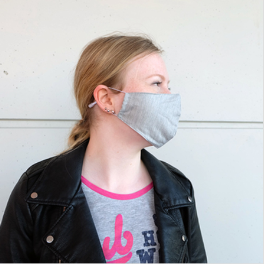 Mouth mask gray (incl. Two filters)-1