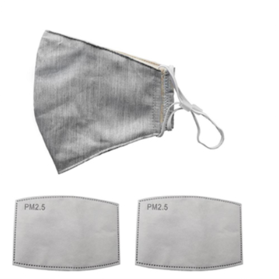 Mouth mask gray (incl. Two filters)-2