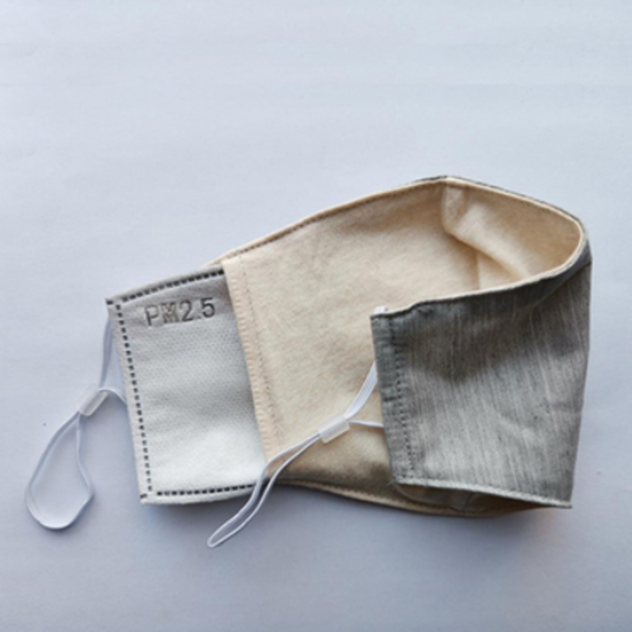Mouth mask gray (incl. Two filters)-4