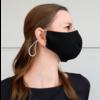 Masque buccal noir ou blanc avec espace pour filtre