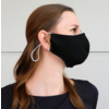 Mundmaske schwarz oder weiß mit Platz für Filter