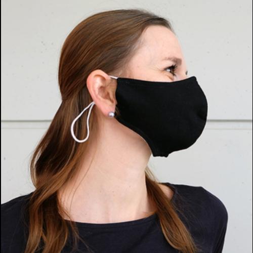 Mundmaske schwarz oder weiß