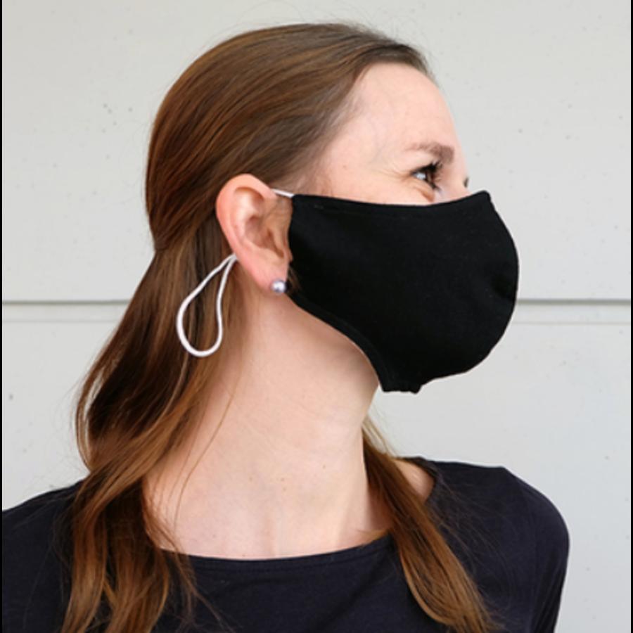 Mondmasker zwart of wit met plaats voor filter-1