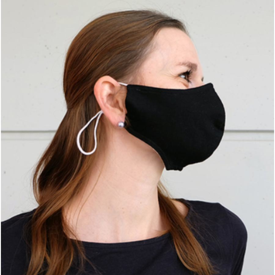 Mundmaske schwarz oder weiß mit Platz für Filter-1