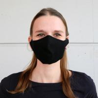 thumb-Masque buccal noir ou blanc avec espace pour filtre-5