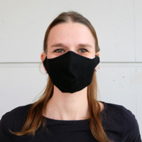 thumb-Mouth mask black or white with place for filter-5