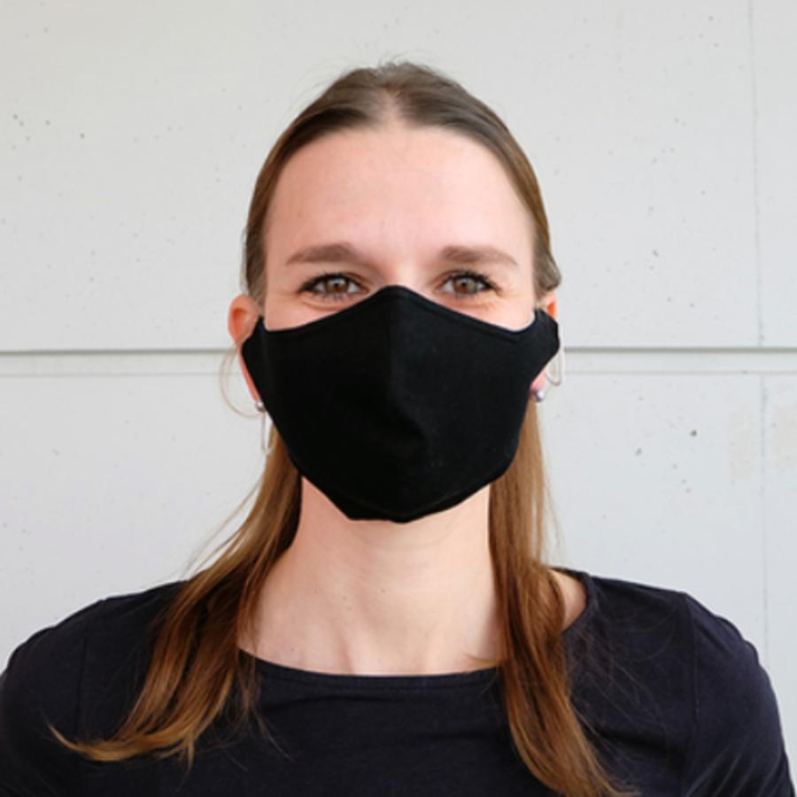 Mundmaske schwarz oder weiß mit Platz für Filter-5