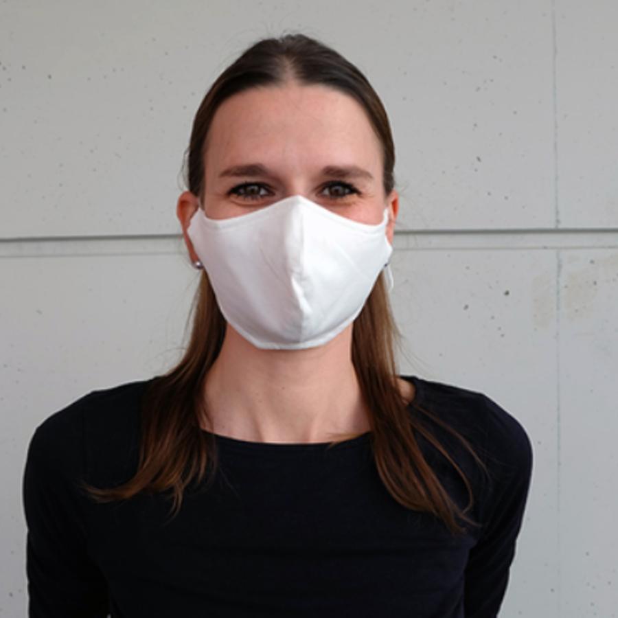 Mundmaske schwarz oder weiß mit Platz für Filter-6