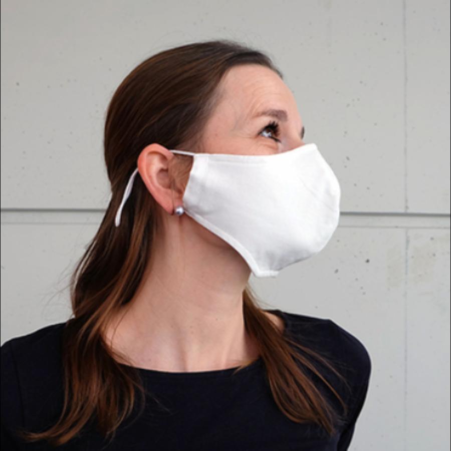 Mundmaske schwarz oder weiß mit Platz für Filter-2