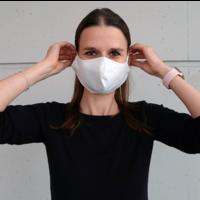 thumb-Mundmaske schwarz oder weiß mit Platz für Filter-7