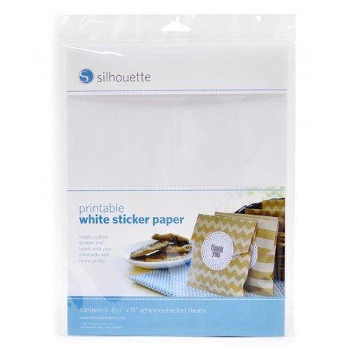 Druckfähiges weißes Aufkleberpapier
