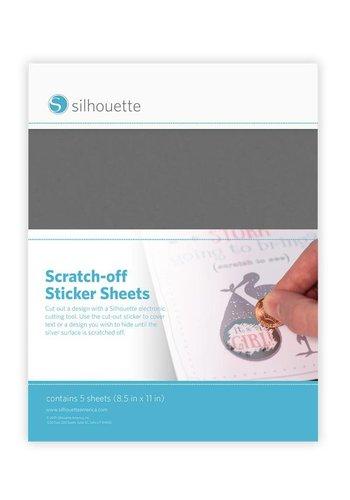 Scratch-off Sticker Sheets - Silber