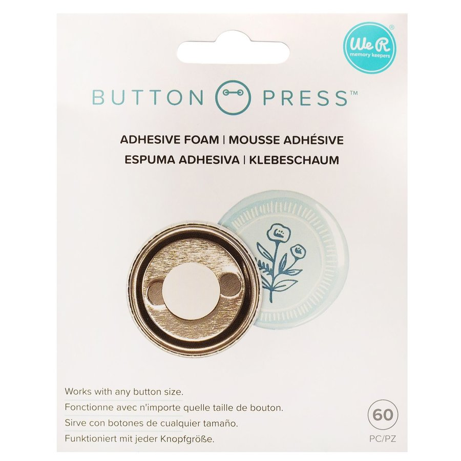 Mousse adhésive à pression de bouton-1