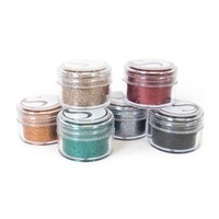 thumb-Couleurs vives assorties de paillettes, pots de 20 ml-1