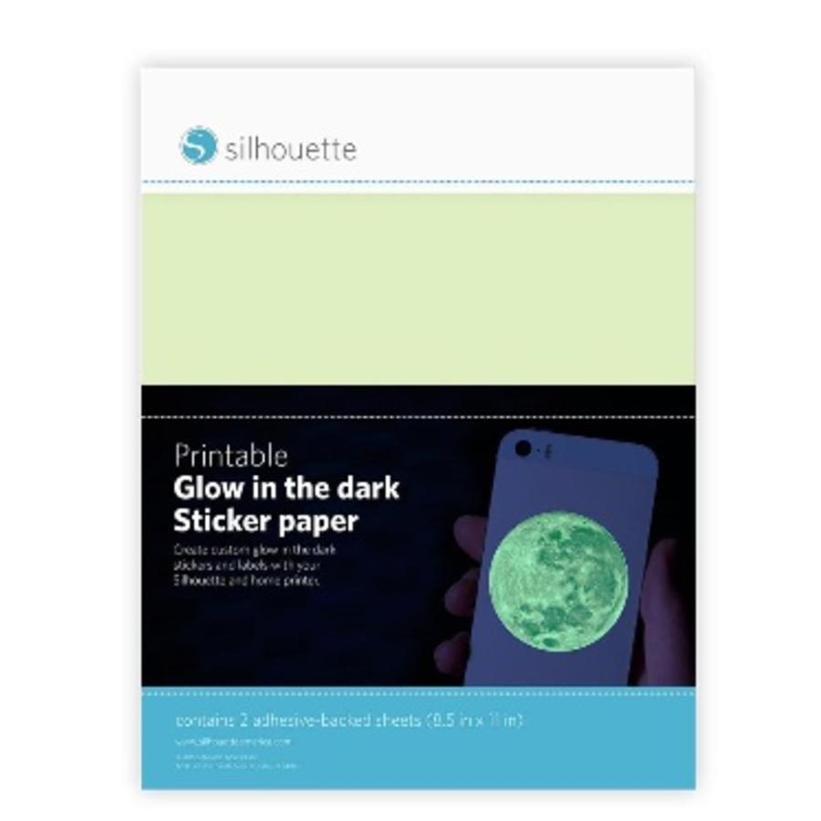 Druckbares Aufkleberpapier im Dunkeln-1