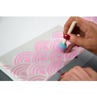 thumb-Feuilles de matériau pour pochoir - non adhésives (6 feuilles, 21,5 cm x 27,9 cm)-2
