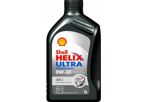 Shell Helix Ultra Pro 0W-30 AB-L - Motorolie, 1 lt