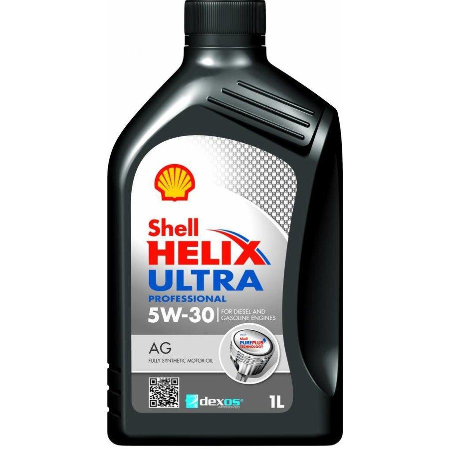 Storslåede Shell Helix Ultra Pro 5W-30 AG - Motorolie, 1 lt - Olievoordeel.nl GD66