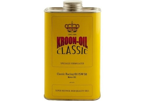 Kroon Classic Racing Oil 15W-50 - Motorolie, 1 lt