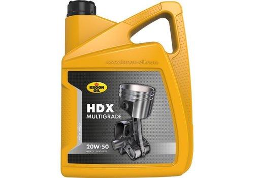 Kroon HDX Multigrade 20W-50 - Motorolie, 5 lt