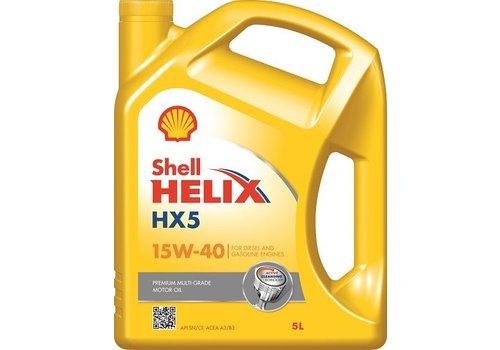 Shell Helix HX5 15W-40 - Motorolie, 5 lt (OUTLET)