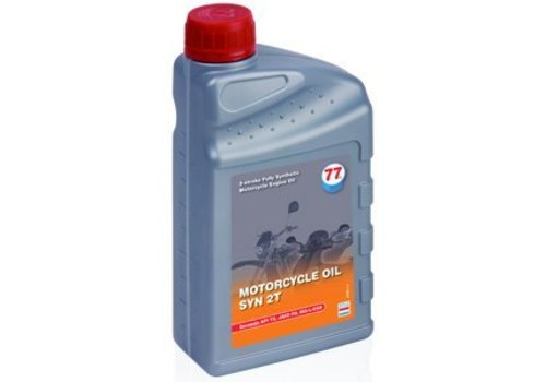 77 Lubricants Motorfietsolie SYN 2T, 1 lt (OUTLET)