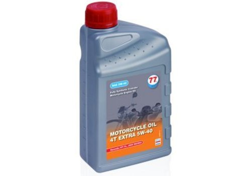 77 Lubricants Motorfietsolie 4T Extra 5W-40, 1 lt (OUTLET)
